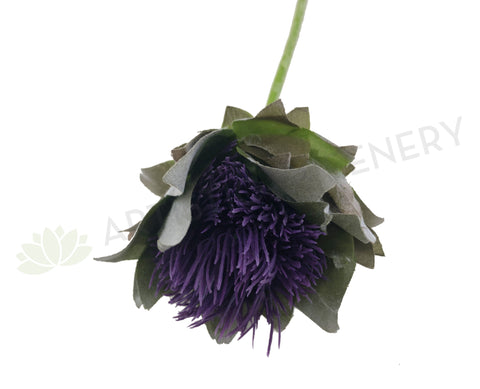 F0236 Thistle Bud Single Stem 65cm Purple