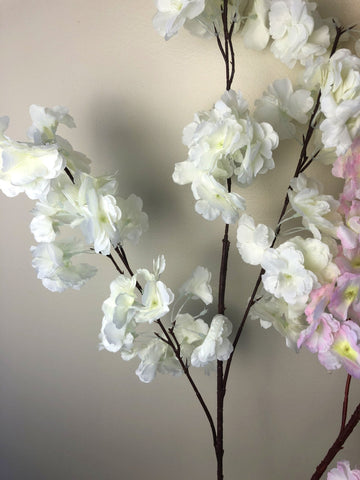 F0237 Clearance Stock - Blossom Branch 110cm White / Light Pink
