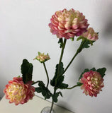 F0246 Mini Dahlia / Chrysanthemum Spray 67cm 3 Colours