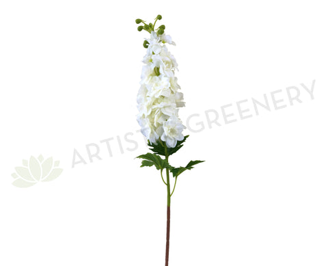 F0254 White Delphinium / Stock Flower 80cm (Real Touch)