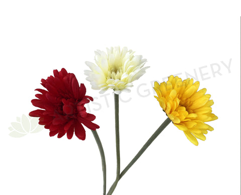 F0256 Gerbera Stem 56cm 3 colours
