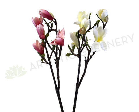 F0260 Small Magnolia Spray PU 52cm Pink / White