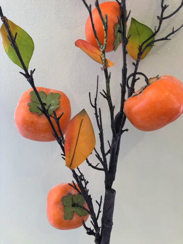 F0264 Artificial Persimmon fruit spray 100cm $22 each