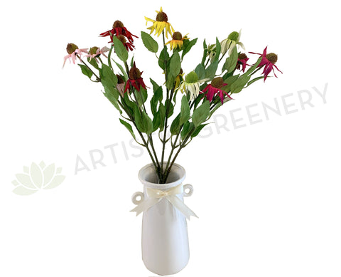 F0275 Cone Flower Spray 60cm 5 Colours