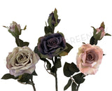 F0281 Rustic Style Rose 46cm Dusty Pink / Purple / Pink
