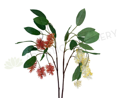 F0293N Artificial Bottle Brush / Callistemon 102cm Red / Cream | ARTISTIC GREENERY