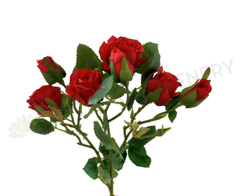F0304 Faux Small Red Rose Spray 63cm High Quality Fake Rose | ARTISTIC GREENERY