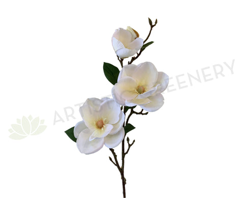 F0309 Large Artificial Magnolia Spray 99cm White | ARTISTIC GREENERY