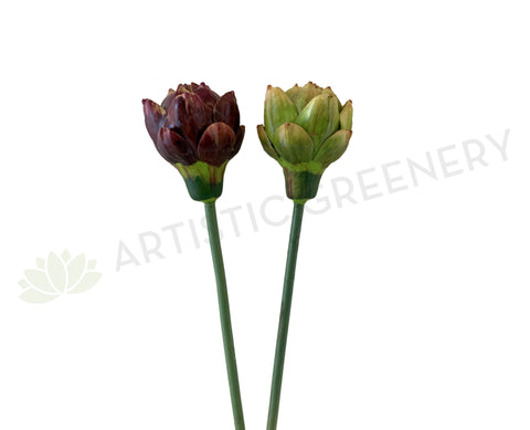 F0313 Artichoke Single Stem 44cm Green / Purple | ARTISTIC GREENERY