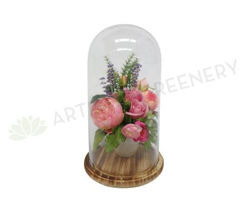 FA0109 - Floral Arrangement in Glass Cloche