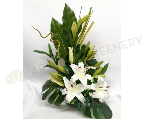 FA1021 White Lilium Floral Arrangement