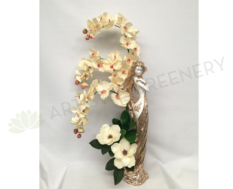 FA1043 - Orchids & Magnolia in Statue Vase (120cm Height)