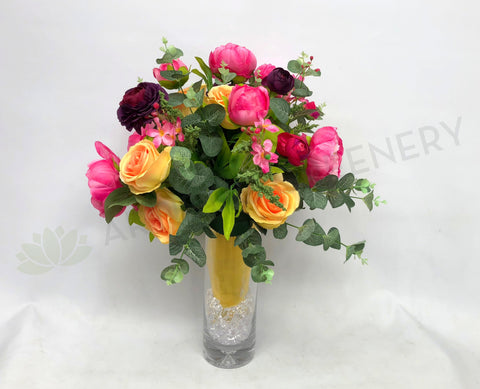FA1050 Spring Colour Floral Arrangement 60cm Tall