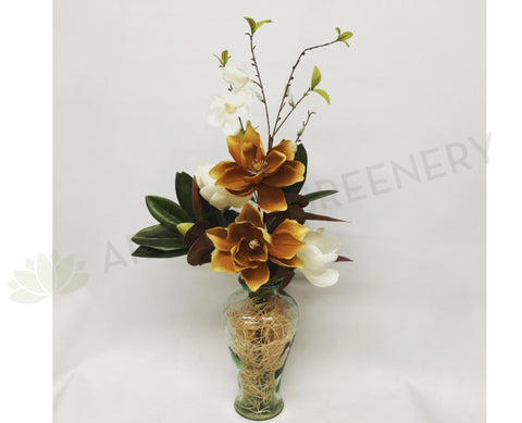 FA1056 - Autumn Style Magnolia Floral Arrangement (75cm Height)