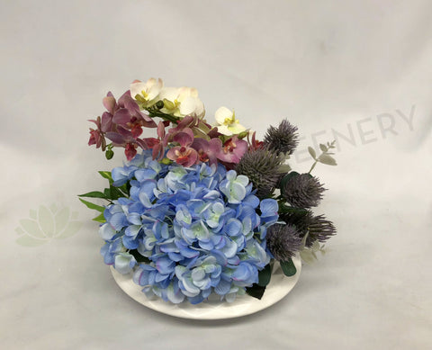 FA1066 - Thistle Orchid & Hydrangea Arrangement (30cm Height)