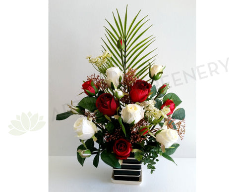 FA1075 - Small Roses Floral Arrangement 50cm Tall