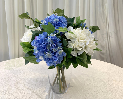 FA1082 - Hamptons Style Floral Arrangement 75cm Tall