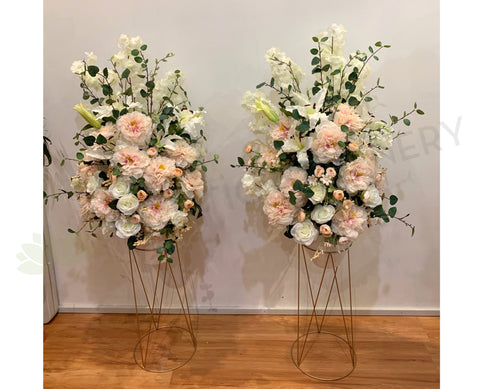 For Hire - Blush Pink & White Arrangement 150cm (Code: HI0018) ARTISTIC GREENERY