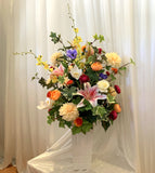 FA1094 - Vibrant Colur Flowers Arrangement (80cm Height) - Natasha | ARTISTIC GREENERY