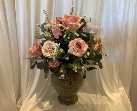 FA1096 - Country Style Floral Arrangement (55cm Height) | ARTISTIC GREENERY