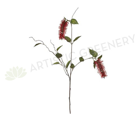 F-FI6384 Bottle Brush 109cm Red / White