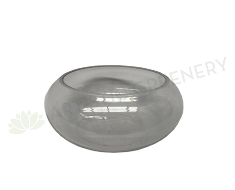 Floating Candle Bowl / Shallow Glass Vase Round - Clear