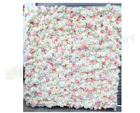 For Hire - Flower Wall (White & Pink) 210 x 210cm SALE $250 Hire Fee