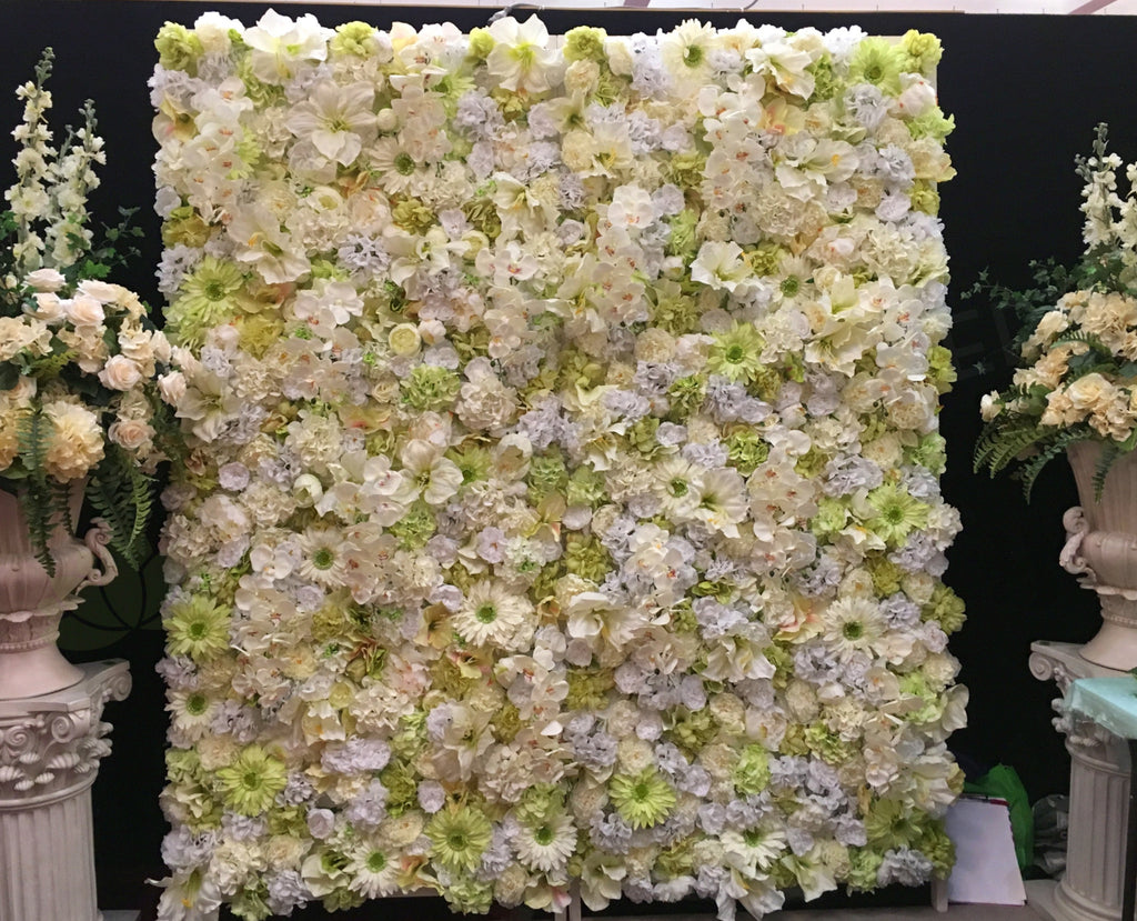 For Hire Flower Wall Hire Cheap Perth White Green Wall