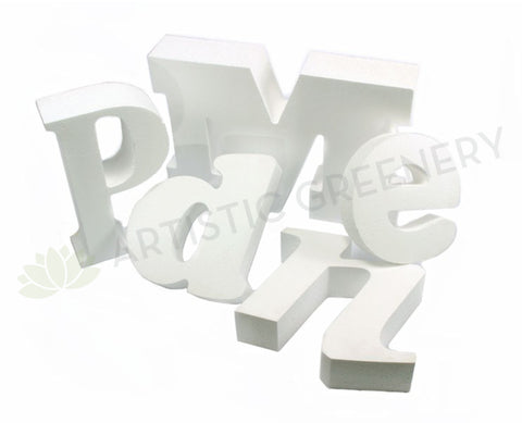 Polystyrene Foam Letters (Laser Cut) - Made to Order