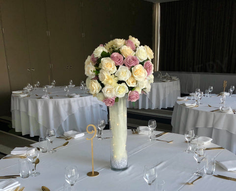 Wedding Decoration Hire For Hire Dusty Pink White Centrepiece