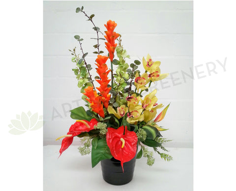 FA1018 Tropical Floral Arrangement (Garuda Indonesia Airlines) - Ginger Torch / Orchid / Anthurium