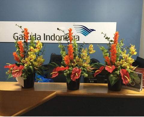 Garuda Indonesia Airlines (Perth International Airport) - Floral Arrangements