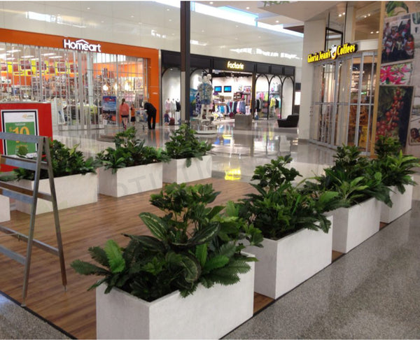 Artificial Plants For Planter Boxes At Gloria Jeans Cafe