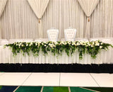 For Hire - White Grand Bridal Table Centrepiece 200cm OR 400cm (Code: HI0008WIST)