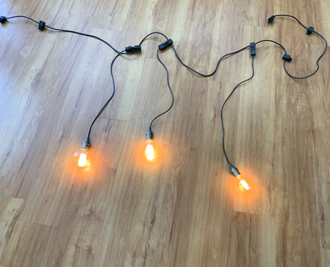 For Hire - Festoon Lights 4.5meters 9 Globes Perth Hire (Code: HI0026)) | ARTISTIC GREENERY