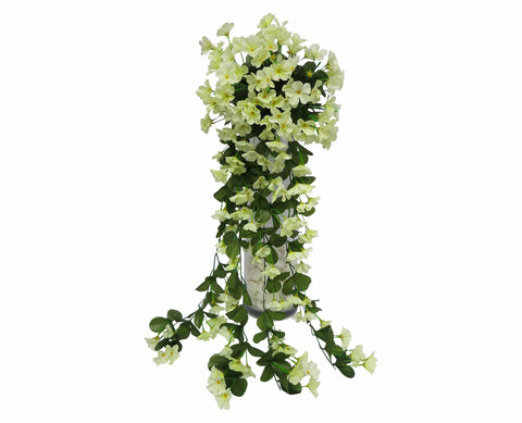 HP0004LYEL Hanging Impatiens 87cm Light Yellow