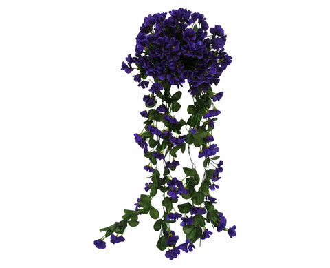 HP0004DPUR Hanging Impatiens 87cm Dark Purple