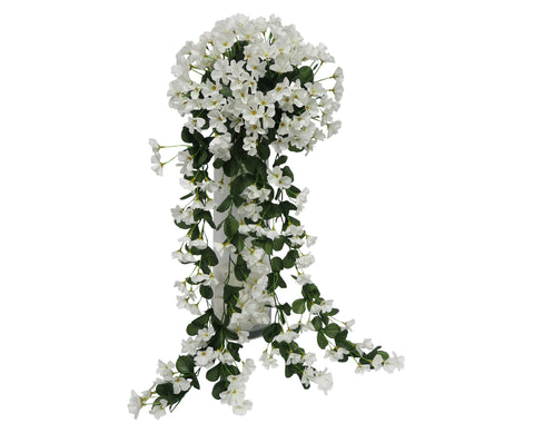 HP0004WHI Hanging Impatiens 87cm White