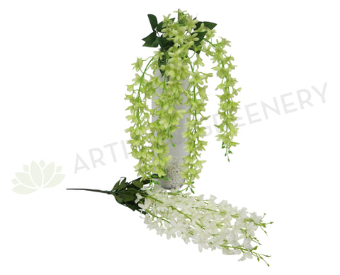 HP0014 Hanging Wisteria 60cm White or Light Green