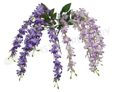 HP0014 Hanging Wisteria 60cm Purple / Light Purple with White