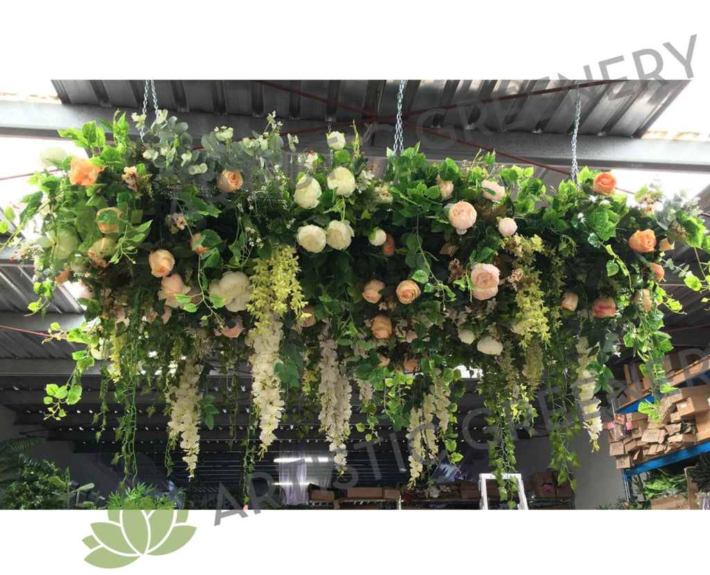 For Hire Hanging Flower Ceiling Artificial Flowers Malaga Perth