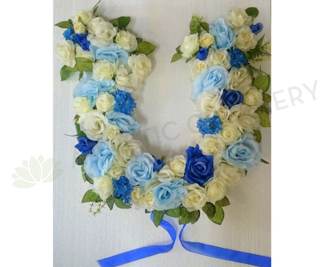 Horse Shoe Floral Wreath 50cm