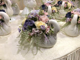 FA1077 - Pastel Colour Arrangement in Swan Vases - Frosina