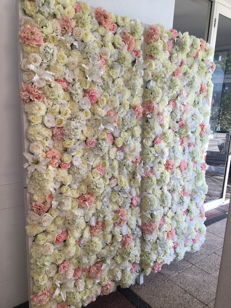flower backdrop hire cheap perth  white  u0026 pink  beautifual backdrop perth event wedding hire
