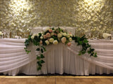 For Hire - Bridal Table Centrepiece (Pink & White) 180cm