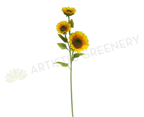 F0026 Large Sunflower Spray 130cm Yellow