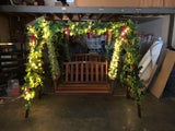 Event Company - Decorating Swing Chairs with Artificial Vines & Grapes