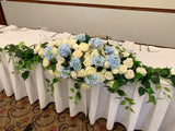 Bridal table centrepice blue and white HI0031Bridal | ARTISTIC GREENERY