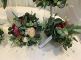 HANDLES - Round Bouquet - Burgundy & Native Greenery - Amie H