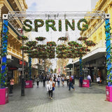 City of Perth Spring Festival 2017 - Hanging Floral Wreaths, Floral Letters, Garlands